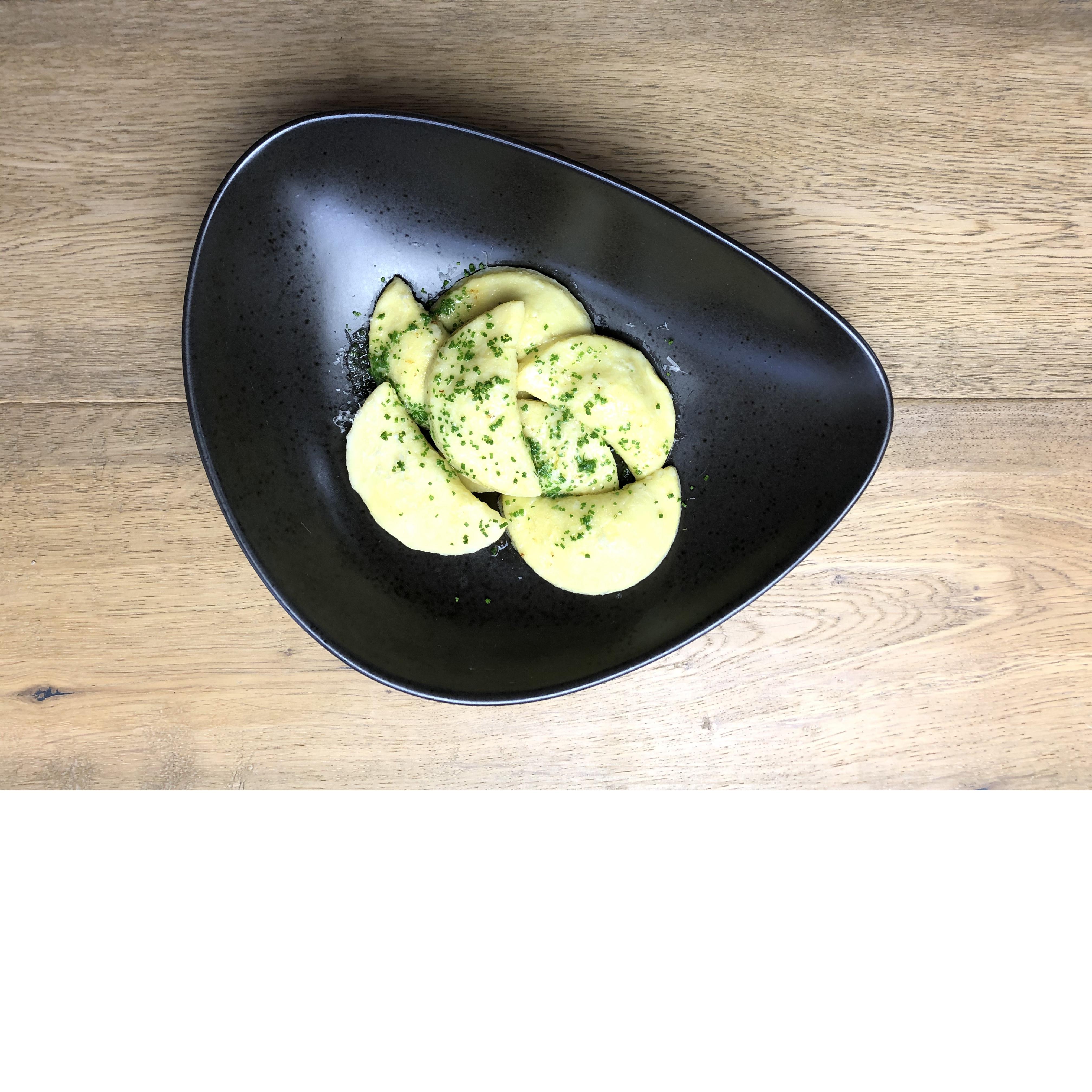 Kartoffelteigtaschen / Kräuterfrischkäse